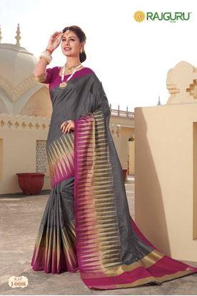 Picture of Original Indian Pure Silk Saree Grey