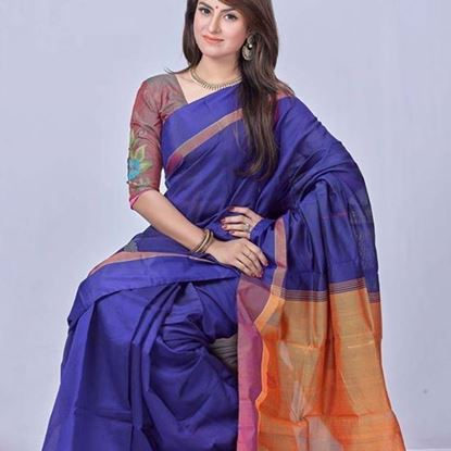 Picture of Tangail Half Silk Blue
