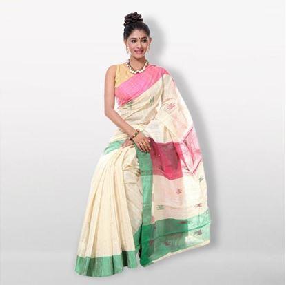 Picture of  White Andi Silk (Monipuri) Saree