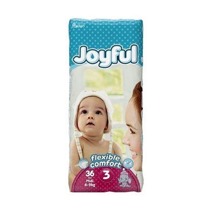 Picture of Joyful Baby Diaper Midi - Flexible Comfort (4-9Kg) - 36Pcs
