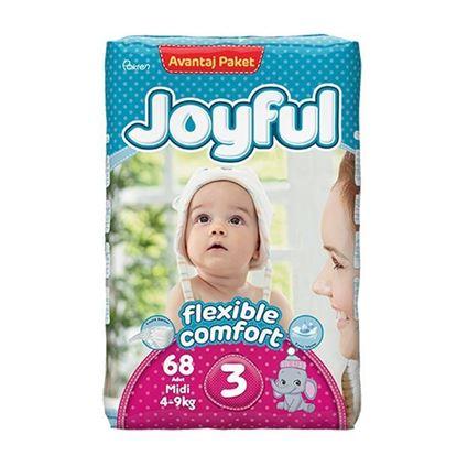 Picture of Joyful Avantaj Baby Diaper Midi - Flexible Comfort (4-9Kg) - 68Pcs