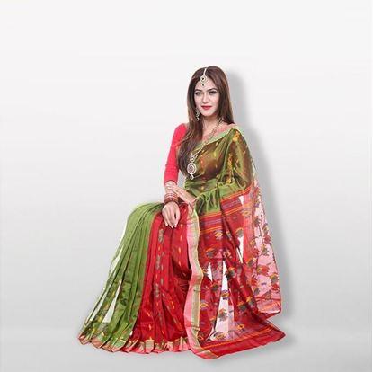 Picture of  Multicolor Jute Silk Saree For Women