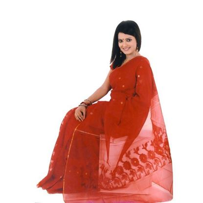 Picture of  Red Silk Saree For Women