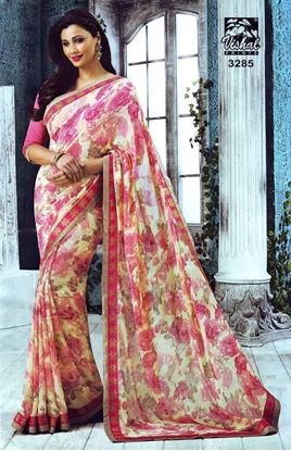 Picture of ORIGINAL INDIAN PURE GEORGETTE PINK