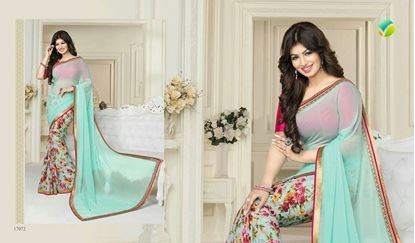 Picture of Original Indian Chiffon Georgette Sky