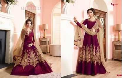 Picture of LT Fabric Original Indian Gown Deep Pink