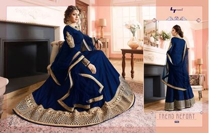 Picture of LT Fabric Original Indian Gown Deep Blue