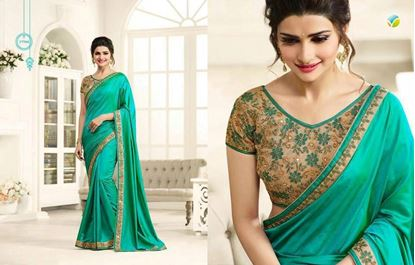 Picture of Original Indian Silk Satin Meadow Green
