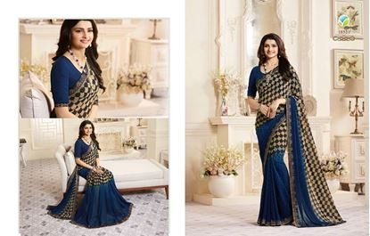 Picture of Original Indian Georgette Seree-Blue