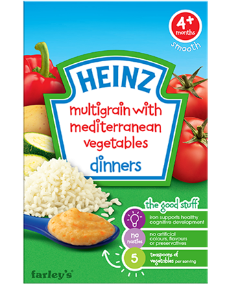 Picture of Heinz 4+Months Multigrain With Mediterranean Vegetables Dinners-125 Gm.