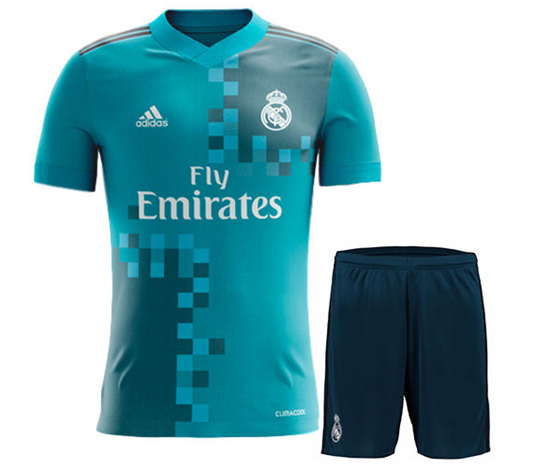 newest 3bfa4 02672 2017-18 Real Madrid Third Away Half Sleeve Jersey With Pant