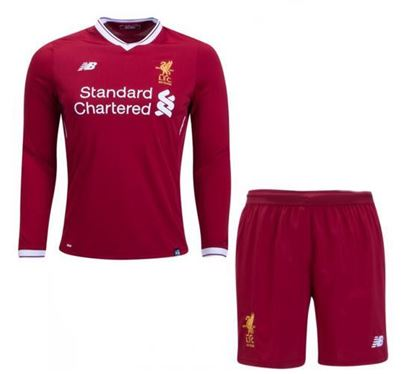 Picture of 2017-18 Liverpool Home Full Sleeve Jersey With Pant