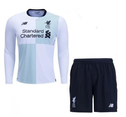 Picture of 2017/18 Liverpool Away Full Sleeve Jersey With Pant