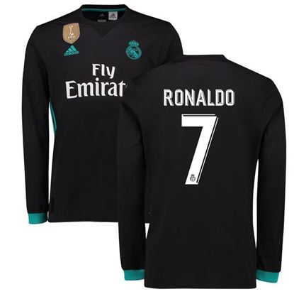 Picture of 2017/18 Ronaldo Real Madrid Away Full Sleeve Jersey