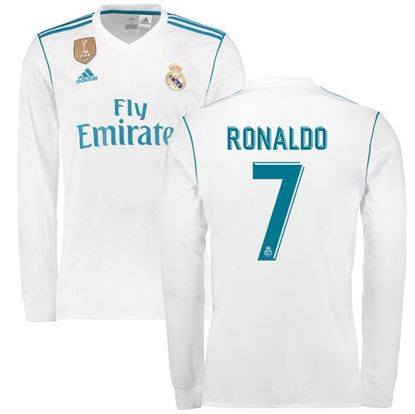 2017 18 Ronaldo Real Madrid Home Full Sleeve Jersey 7d166389f