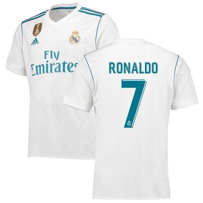 Picture of 2017/18 Ronaldo Real Madrid Home Half Sleeve Jersey