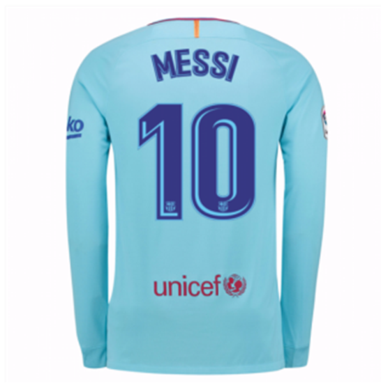 official photos 766c9 392bb Messi 2017/18 FC Barcelona Away Full Sleeve Jersey