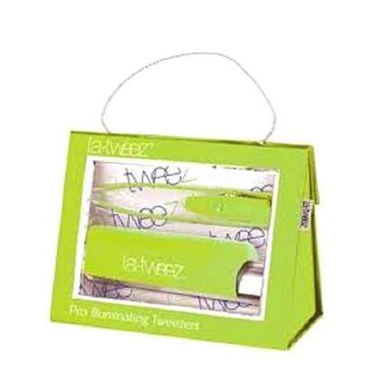 Picture of La-Tweez Pro Illuminating Tweezers with Lipstick Case - Green