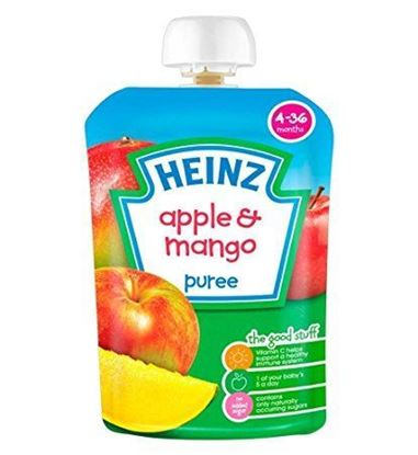 Picture of Heinz Apple & Mango Puree 4-36 Months-100g