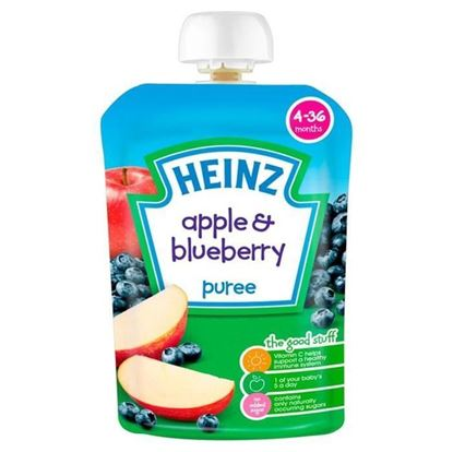 Picture of Heinz Apple & Blueberry Puree-100gm