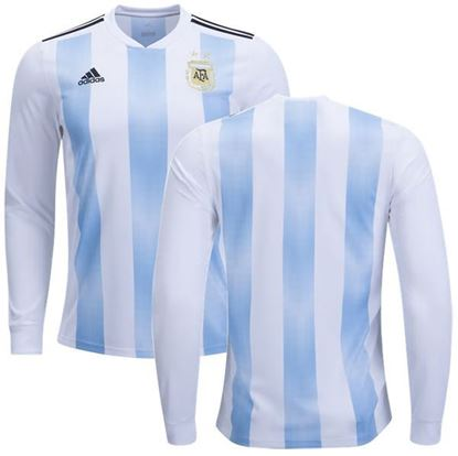 Picture of  Argentina Home World Cup Special Full Sleeve Jersey 2018