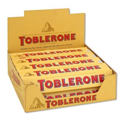 Picture of  Toblerone Milk Chocolate Full Box 20pcs - 100g each