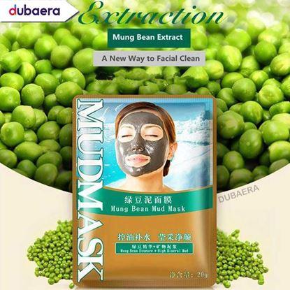 Picture of BIOAQUA Mung Bean Mud Deep Cleaning Acne Treatment Remove Blackhead Oil Control Facial Shrink Pores Msk 20 gm