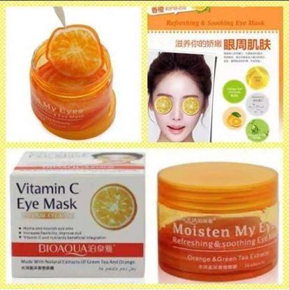 Picture of BIOAQUA Brand Eye Mask Orange Vitamin C Skin Care Remove Dark Circle Moisturizing 80g