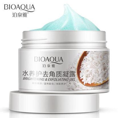 Picture of BIOAQUA Rice Deep Exfoliator Gel Scrub Smooth Moisturizing Skin Care Whitening Face Cream anti Aging Repair Exfoliator Scrub