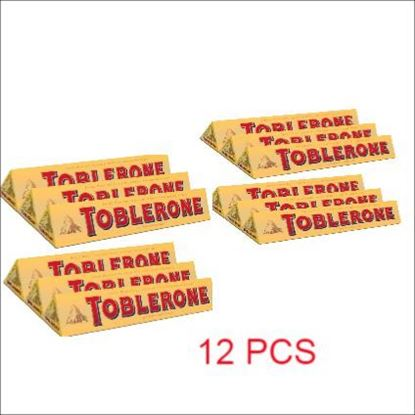 Picture of Toblerone Milk Chocolate 12 pcs - 100g each