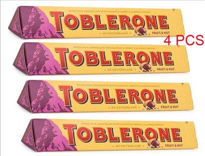 Picture of Toblerone Milk Chocolate 4 pcs - 100g each
